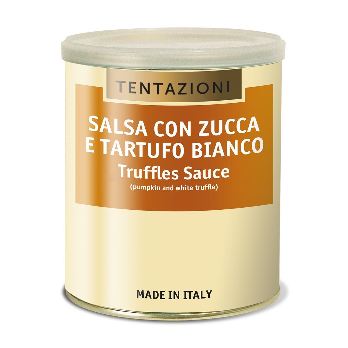 Salsa Con Zucca Al Tartufo Bianco Latta Da 800g